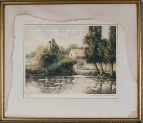 Signed & Numbered Lithograph by Simone Haumont 77/250, Framed, Beautiful Piece!