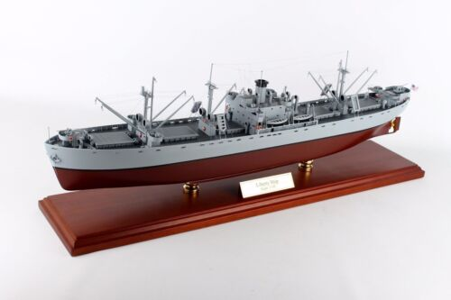 """US Navy Liberty Class Naval Cargo Ship WWII  28""""  Wood Model  Boat Assembled"""