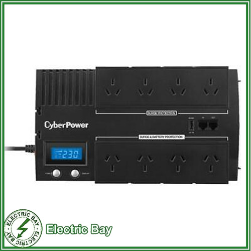 CyberPower 850VA UPS BR850ELCD 8 Way Surge protect Uninterruptible Power Supply