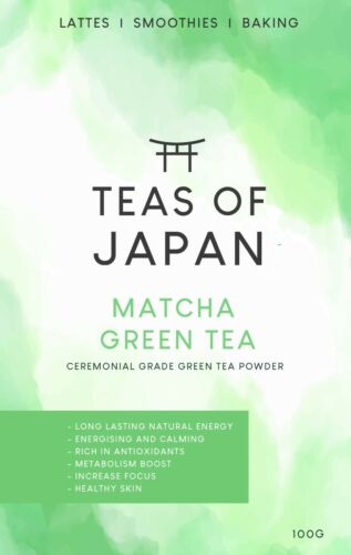 Matcha Green Tea Powder Premium Japanese Ceremonial Grade Natural & Pure UK