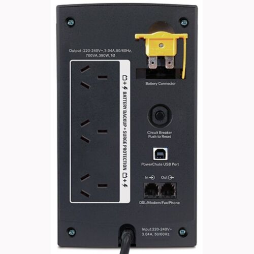 700VA APC Power Saving Back UPS Uninterrupted Power Supply 3 Way Outlet Board