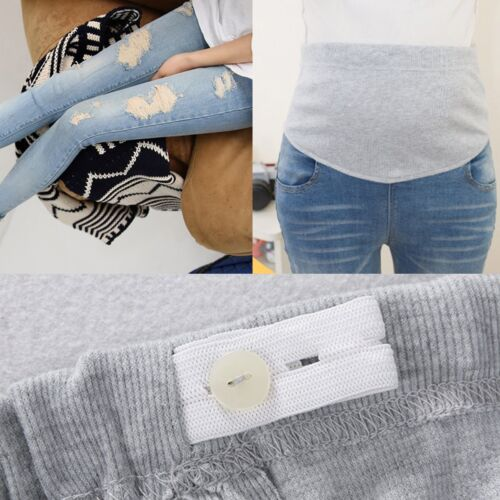 New Pregnant Women Abdominal Maternity Ripped Hole Pants Belly Leggings Trousers