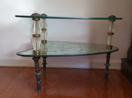 Hollywood Regency Mid Century Oval Glass Goran Belgium Coffee Table