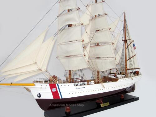 "US Coast Guard Eagle Tall Ship Assembled 29"" - Handcrafted Wooden Model"