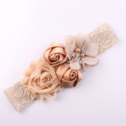 Lace Flowers Design Hairband Turban Headwear For Newborn Infant Hair Accessories