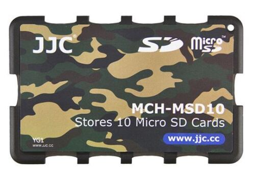 Credit Card Size Memory Card Holder Hard Case for 10 x Micro SD -Camouflage