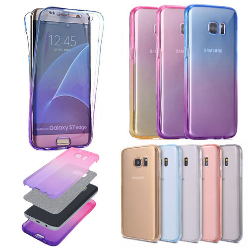 360°full Cover Slim clear Soft Silicone Rubber protective phone Case For Samsung