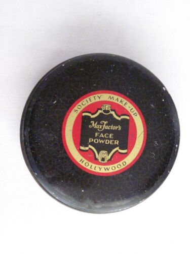 "Art Deco Era Powder Tin ""MaxFactor's"" Face Powder - Hollywood  Society Make-Up *"