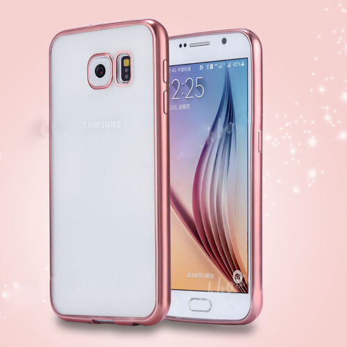 For Samsung Galaxy Phones ShockProof Silicone TPU Clear Slim Case Cover