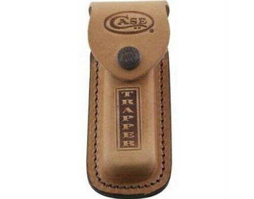 """Case 980 Trapper Leather Sheath Brown Leather Stamped Logo 5""""Sheaths - 43221"""