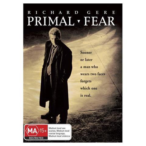 PRIMAL FEAR (DVD, 2009) Richard Gere / Edward Norton / CRIME MYSTERY / FREE POST