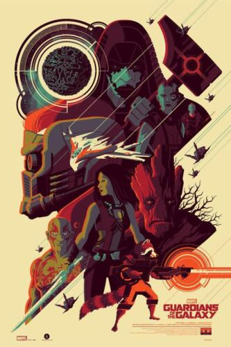 """GUARDIANS OF THE GALAXY Print By TOM WHALEN 24""""x36"""" - 25/325 Signed NYCC 2015"""