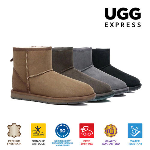UGG Boots Premium Australian Sheepskin Mini Classic, Water Resistant Ankle Boots <br/> $39 with code PATTERNS. 1pp. T&Cs apply