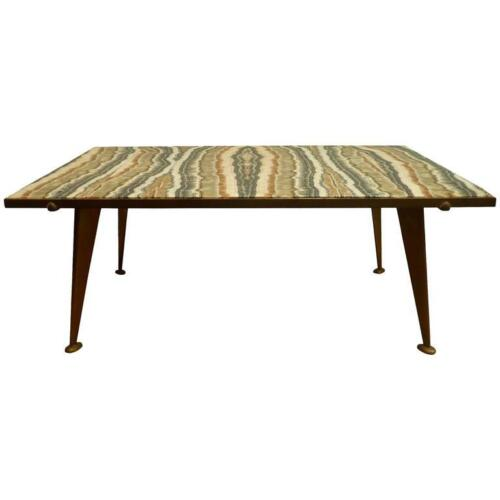 Rare Mid Century Quartz and Bronze Coffee Table by Richard Blow for Montici