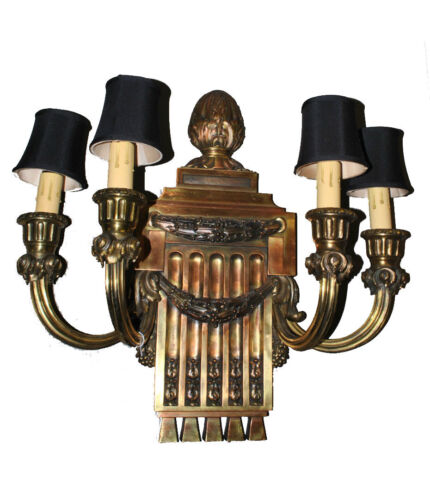 Caldwell Bronze Neo Classical Style Four Armed Electric Wall Sconce