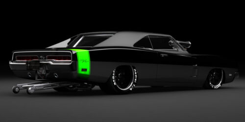 1969 DODGE CHARGER R/T PRO STOCK CLASSIC CAR ART POSTER PRINT 18x36 9 MIL PAPER