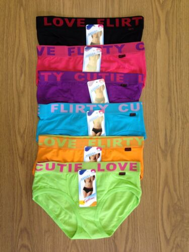 12 pairs Mix Colors Ladies Underwear Cotton/Elastane with Wide Elastic Band