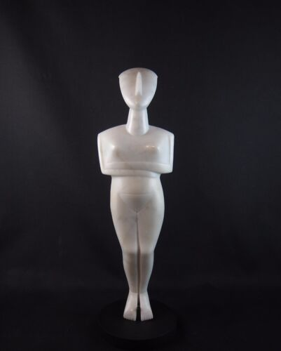 Rare ancient Cycladic marble figure 'old museum carved copy'
