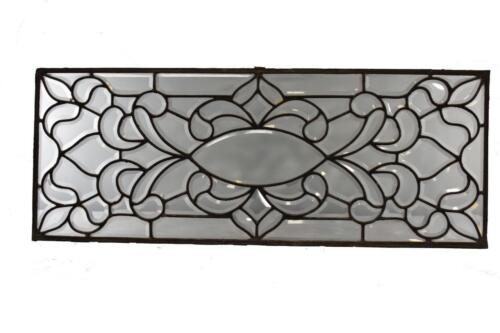 ANTIQUE BEVELED GLASS TRANSOM WINDOW HORIZONTAL OR VERTICAL CIRCA 1910