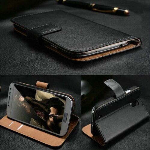 Real Genuine Leather Case For Sony Xperia Experia Wallet Flip Cover Shockproof