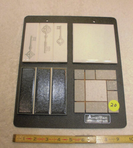 Vintage Ceramic Tile, The American Olean Co. Bathroom set of Samples tiles  (20)