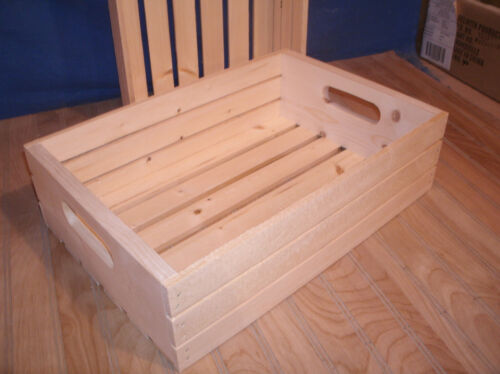 """18""""wooden crate, wood crate, slatted crate storage crate 5"""""""