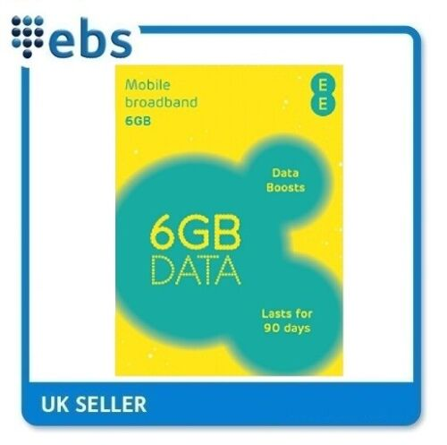 EE PAYG 4G Data Sim Preloaded With 6GB Data