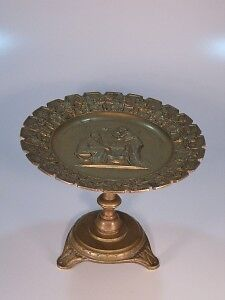 Victurian bronze Compote / tazza NeoClassical madallion