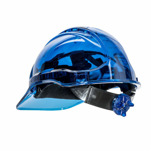Portwest PV60 Peak View Ratchet Hard Hat - Vented Translucent Head Protection