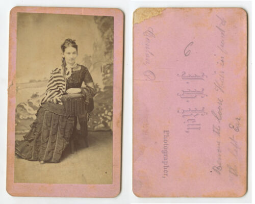 CDV STUDIO PORTRAIT YOUNG LADY FROM CANTON, OHIO, BY KELL