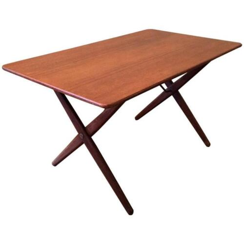 Danish Modern Teak and Brass Occasional Table by Hans Wegner for Andreas Tuck