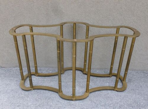 70'S MASTERCRAFT BRASS 12 COLUMN NEOCLASSICAL TABLE BASE ONLY