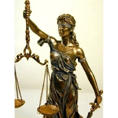 Blind Lady Justice Statue Scale Bronze Finish Lawyer Gift Office Legal Sculpture