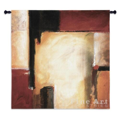 """West Contemporary Modern Wall Tapestry Abstract Collage 53""""x53"""""""