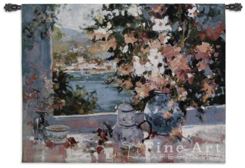 """Window View Contemporary Modern Wall Tapestry 40""""x53"""""""