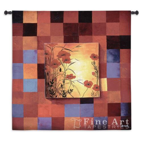 """Poppy Patterns Contemporary Modern Wall Tapestry 53""""x53"""""""