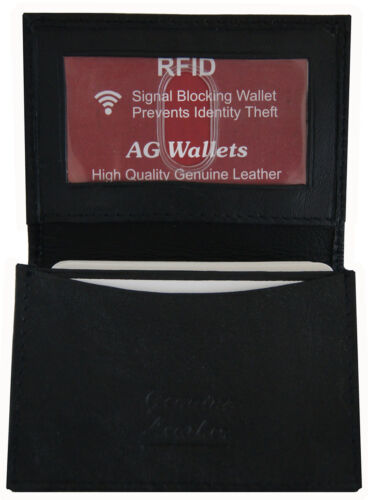 Mens Leather RFID Signal Blocking Expandable Credit Card ID Holder Wallet Safe