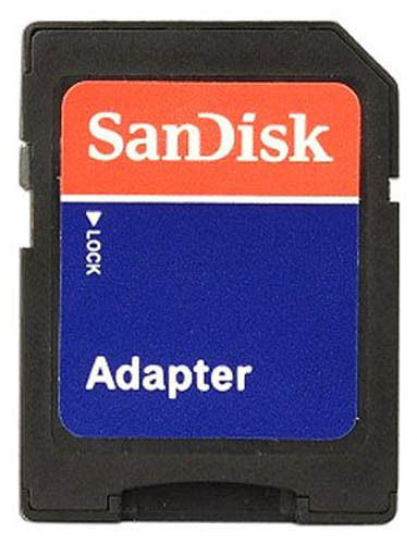 SanDisk MicroSD Micro SD to SD HC SDHC Adaptor Memory Card Adapter Reader NEW