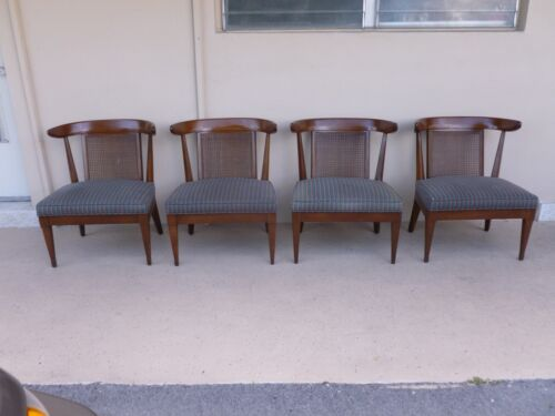4 LUSCIOUS MID CENTURY HOLLYWOOD REGENCY KLISMOS SLIPPER CHAIRS