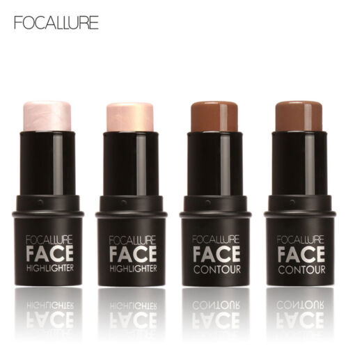 Face Full Cover Cream Stick Foundation Concealer Contour Highlighters Makeup