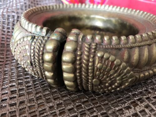 Old North Indian Silver Plated Bracelet Change Bowl …beautiful accent piece