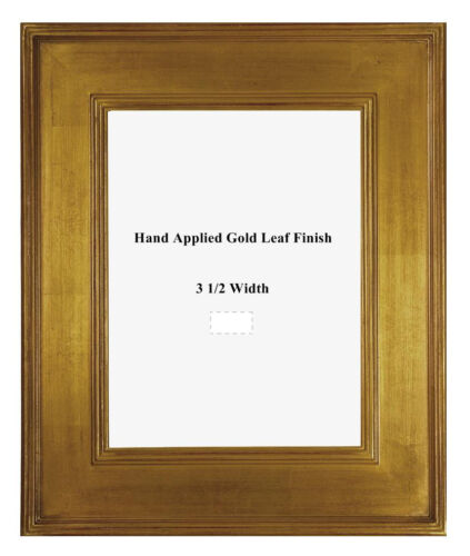 11 x 14  Arts & Crafts Style Picture Frame HandApplied Gold Metal Leaf