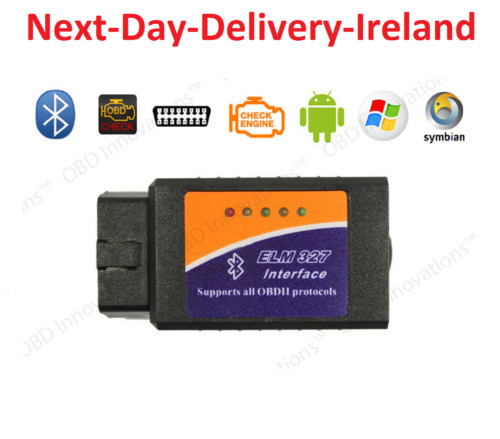 ELM327 V2.1 OBD2 II Bluetooth Diagnostic Car Scanner Tool Fault Code Reader 2.1
