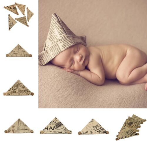Newborn Handworked Cap Hand Baby Photography Background Props Folding Paper Hat