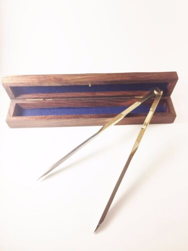 """Clearance!! Solid Brass 8"""" single handed operated Divider Steel Tips. US Seller!"""