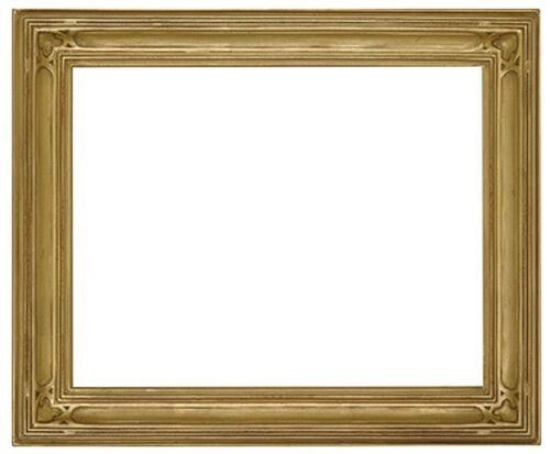 8 x 10 Arts & Crafts Style Picture Frame HandApplied Gold Leaf  Beautiful Style