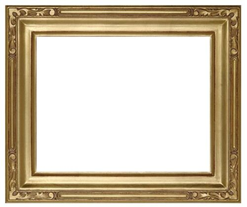 9 x 12 Arts & Crafts Style Picture Frame Hand Applied Gold Leaf Beauty