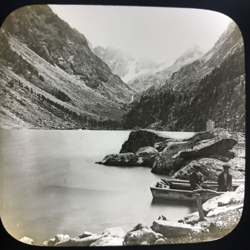 Antique Magic Lantern Glass Slide Photo Gaube Glacial Lake In France