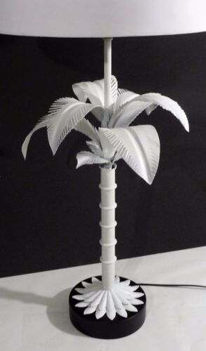 Italian Mid Century Modern Palm Tree Table Lamp Refreshed Example