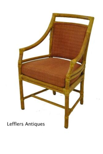 MCGUIRE TARGET BACK RATTAN BAMBOO ARM CHAIR M59B